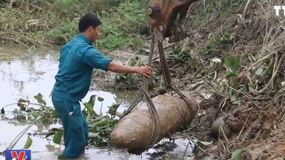 Nghệ An phá hủy thành công quả bom nặng 300kg