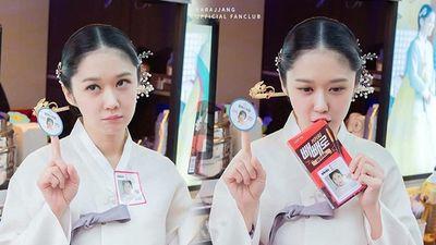 Hoàng hậu Jang Nara 'rắc thính' với loạt ảnh trẻ đẹp tựa gái 20 ở phim trường 'The Last Empress'