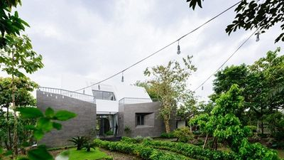 Mãn nhãn biệt thự vườn với hình khối đơn giản