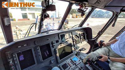 Soi khoang lái tiện nghi hai trực thăng Nga ở Hà Nội