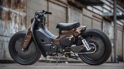 Xe máy Honda Super Cub độ Street Tracker tuyệt đẹp