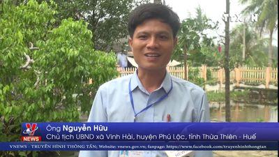 Bờ biển Vinh Hải, tỉnh Thừa Thiên- Huế sạt lở nghiêm trọng