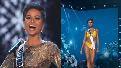 H'Hen Niê diện bikini, hô vang 'Việt Nam' trên sân khấu Miss Universe