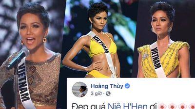 Hoàng Thùy không bỏ lỡ phần trình diễn nào của H'Hen Niê chỉ vì muốn 'rút kinh nghiệm'?