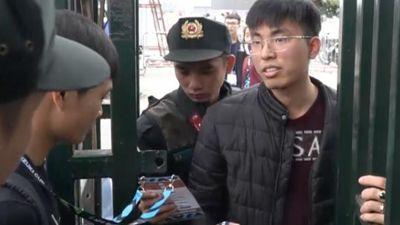 Clip: Gần 100 cảnh sát đặc nhiệm giữ an ninh trật tự ở sân Mỹ Đình