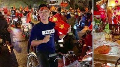 Việt Nam vô địch!!! Sao Việt từ Bắc vào Nam đổ xuống đường đi bão