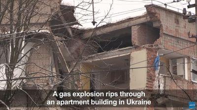Nổ khí gas kinh hoàng ở Ukraine, tòa nhà 5 tầng bị đánh sập