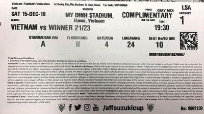 Vé trận chung kết lượt về AFF Cup in lỗi có được vào sân?