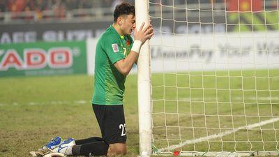 Đặng Văn Lâm ôm khung thành khóc nức nở khi Việt Nam vô địch AFF Cup 2018