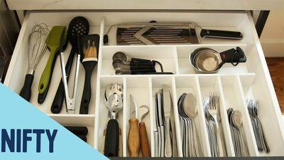 Mẹo sắp xếp ngăn kéo tủ bếp siêu đơn giản và tiện lợi