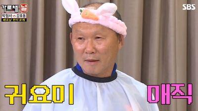 HLV Park Hang Seo hóa trang thành chú thỏ siêu dễ thương