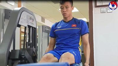 Asian Cup 2019: Tuyển Việt Nam vui vẻ ở phòng gym sau trận thắng Yemen