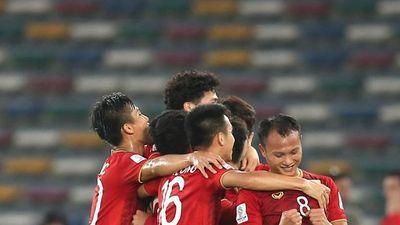 Cận cảnh tuyển Việt Nam 'gây sốt' với màn ăn mừng vé vòng 1/8