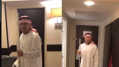 Clip: Chán làm Hoàng tử Ả Rập, Đức Huy đổi nghề làm phục vụ phòng cho Xuân Trường