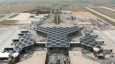 Ngắm kiến trúc sân bay quốc tế hình tổ ong ở Jordan