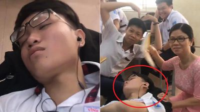 Clip: Nam sinh ngủ gật trong lớp và cái kết đáng yêu không tưởng