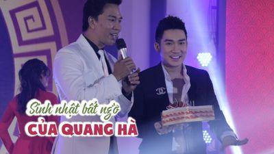 Quang Hà bất ngờ được tổ chức sinh nhật trên sân khấu