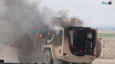 IS tấn công liên minh quân sự quốc tế, 2 binh sĩ Mỹ bị thương, 5 chiến binh người Kurd thiệt mạng