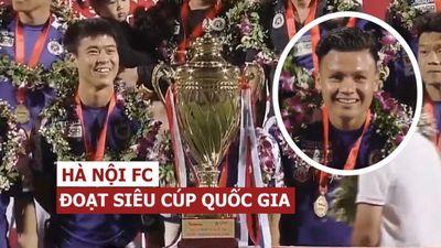 Quang Hải, Duy Mạnh tươi rói vì Hà Nội đoạt Siêu Cúp Quốc gia