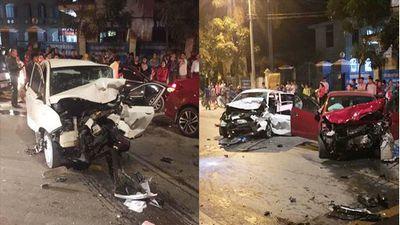 Hiện trường vụ việc 2 ô tô đấu đầu khiến 4 người thương vong ở Vĩnh Phúc