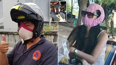 Người dân Bangkok 'chế' khẩu trang đặc biệt trong những ngày ô nhiễm không khí trầm trọng