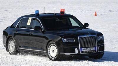 Hình ảnh siêu xe của Tổng thống Putin đua trên tuyết