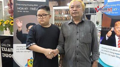 Miễn phí cắt tóc theo kiểu nhà lãnh đạo Kim Jong Un và Donald Trump