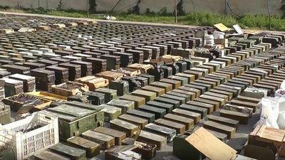 Xem số lượng lớn vũ khí của Mỹ và Israel mới bị quân đội Syria tịch thu