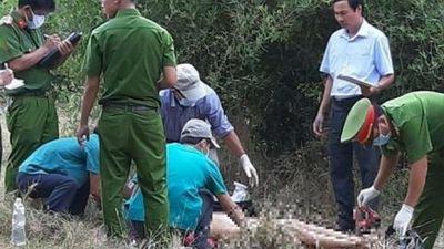 Hiện trường phát hiện thi thể phụ nữ lõa thể trong rừng ở Ninh Thuận