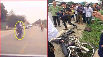 Để đầu trần đi xe máy đánh võng tông trúng ô tô, hai thanh niên nhập viện ở Hòa Bình