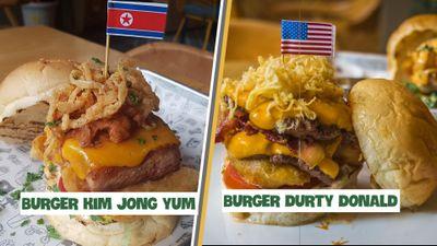 Bánh burger ăn theo hội nghị thượng đỉnh Mỹ - Triều ở Hà Nội