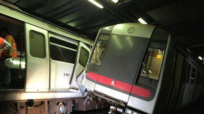 Hai tàu điện ngầm đâm nhau tại Hong Kong