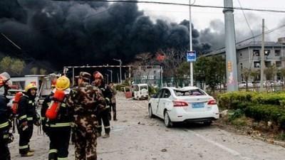 Nổ nhà máy hóa chất Trung Quốc, 44 người chết, hàng trăm người nguy kịch