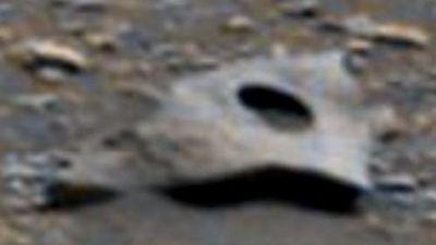 Kỳ quái tấm kim loại cổ ẩn hiện trên sao Hỏa