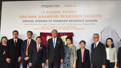 Phó Thủ tướng Singapore tham dự lễ khánh thành căn hộ cao cấp Oakwood Residence Saigon