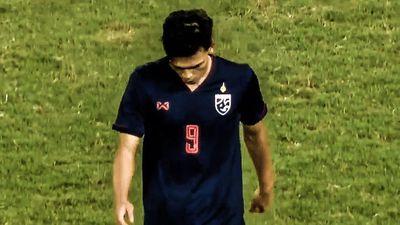 Tình huống tiền đạo Thái Lan nhận thẻ đỏ vì chơi xấu Đình Trọng