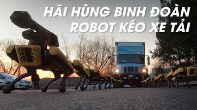 'Binh đoàn robot' kéo xe tải khiến cộng đồng mạng hãi hùng
