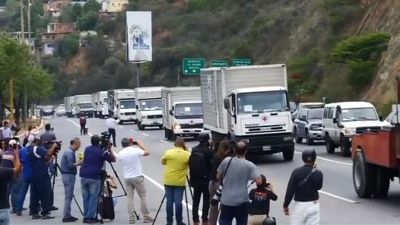 Venezuela tiếp nhận hàng viện trợ quốc tế