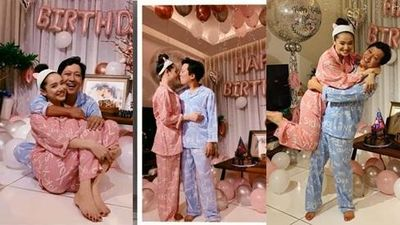 Rò rỉ hình ảnh tiệc sinh nhật Trường Giang: Danh hài ôn hôn, bế bổng Nhã Phương vô cùng hạnh phúc