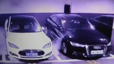 Xe Tesla Model S phát nổ tại một bãi xe ở Thượng Hải