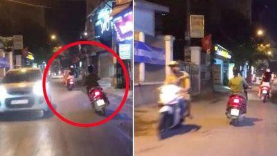 Nhìn 'ninja lead' phóng xe lạng lách, đánh võng trên đường, tài xế ô tô sợ khiếp vía kêu 'vợ ai thì ra đón về đi ạ'