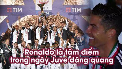 Ronaldo là tâm điểm trong ngày Juve đăng quang