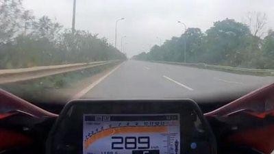 Xôn xao clip môtô chạy tốc độ gần 290 km/h trên đại lộ Thăng Long