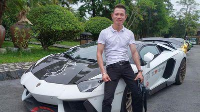 Đăng cấp chơi siêu xe Lamborghini đáng nể của đại gia Tùng 'vàng'