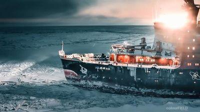Cảch tàu Nga phá băng dễ như bơi trên mặt nước