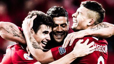 Hulk, Oscar cùng ghi bàn đánh bại đội của Lavezzi tại Trung Quốc