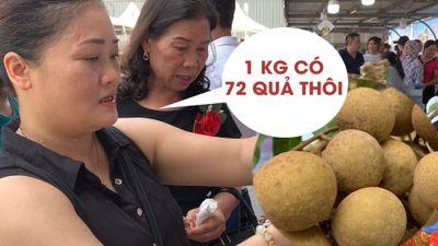 Người Hà Nội sửng sốt khi thấy na, nhãn 'khổng lồ' Sơn La
