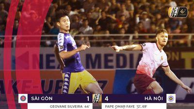 Hà Nội FC vùi dập Sài Gòn, áp sát ngôi đầu bảng của TP.HCM
