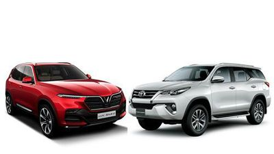 So sánh VinFast Lux SA 2.0 với Toyota Fortuner