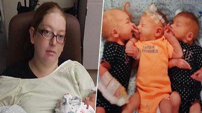 Tưởng đau bụng vì sỏi thận, bà mẹ bất ngờ sinh ba